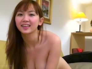 Sweet Asian babe Harriet adores her lover's big dick