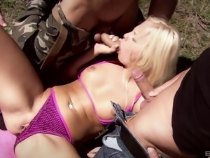 Awesome and unforgettable threesome with Sharka Blue