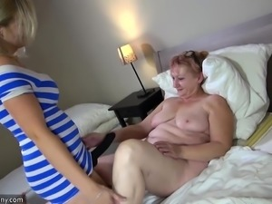 OldNannY Old Granny and Teen Lesbian