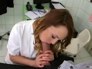 Dashing cowgirl with natural tits gives a big cock a blowjob then gets fucked...