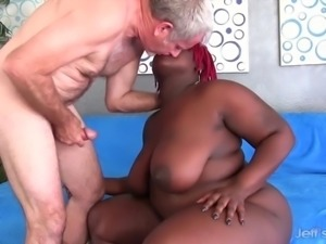 Thick black girl plus thick white dick
