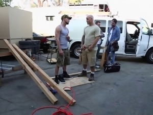 Charming model giving huge dick blowjob in parody shoot