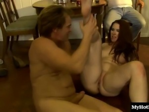 Redhead cannot get enough of her handsome man's fat prick