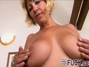 sarah is a blonde granny who never had a bbc before