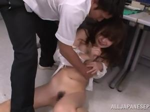 Japanese teacher Rina Isihara gets nasty for a fuck at school
