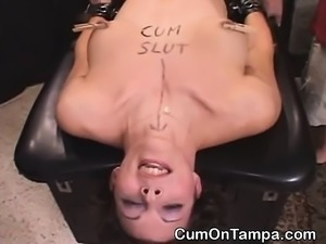 Brunette Cum Slut Getting Fucked At Tampa Gangbang Party
