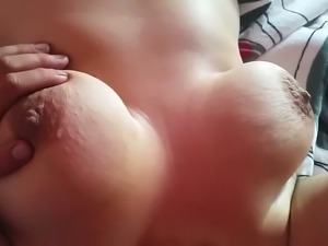 Watch dope boobs massage performed by my buddy for his lusty wife