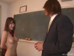 Ayami Shunka is a curious girl who loves a stiff dick