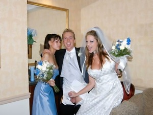 These brides are horny and they love to expose their private parts