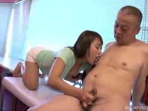 Takase An knows how to make her mature friends' dicks stiff