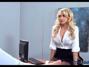 Kinky Blonde MILF in Black Stockings