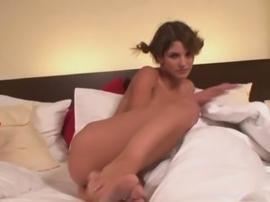 She woke up to masturbate with her toy