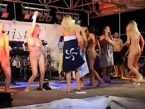 Dancing Naked On-Stage