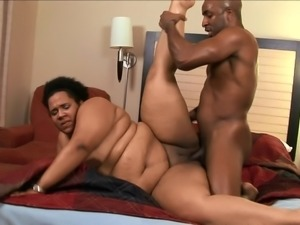 Fat woman Kitten penetrated well by her black stallion