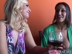 Rachel Love joins a couple of insatiable lesbinas for a shag