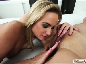 Czech Vinna Reed gets pussy and ass licked by a busty granny
