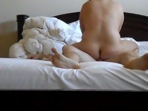 Asian Wife BBW Fat Ass Massaging My Cock