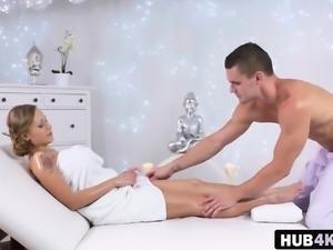 Busty Katarina Muti Massage Oil Licking Pussy