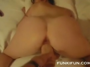 My sexy wife has booty for days and she loves having her pussy toyed