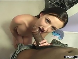 Naughty lady is in need of a black hunk's pulsating love tool