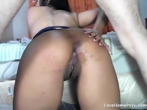 Beauty with a big ass getting asshole fucked and creampied