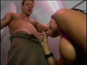 Alexis Malone warming up the cock with her mouth before pounding it