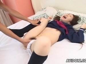 Fantastic schoolbabe getting ravaged by the randy dude