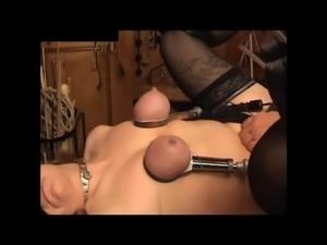 SKLAVIN-Z Tit torture with needles