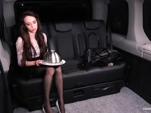 FUCKED IN TRAFFIC - Steak and Blowjob Day backseat fuck