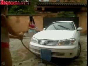 These supremely hot camgirls know the best the technique of car wash