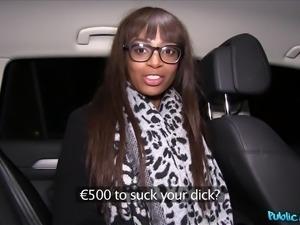 ebony street walker sucks my cock for cash