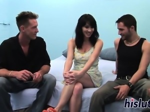 Hot Rayveness gets nailed in a threesome