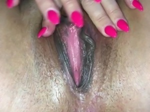My Horny wife's soaking wet squirting pussy