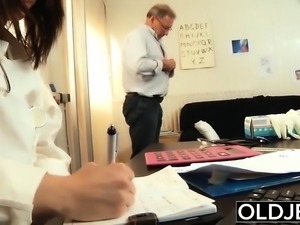 Old and Young Nurse Turns Checkup into Sex and Fucks