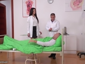 doctor and patient tag team a hot nurse
