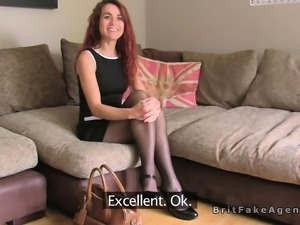 British redhead amateur deep throats in casting