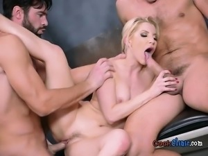 Blonde Babe Ashley Fires Enjoys Big Rods Of Doctors