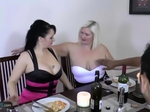 AgedLovE Busty Mature Friends Group Hardcore And Anal Sex