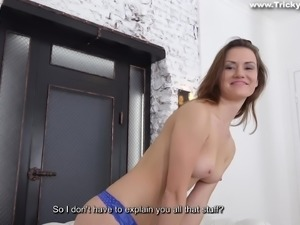 The agent tricked this naughty babe with a promise of being a big movie star....