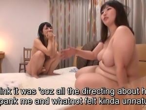 Subtitled Japanese bizarre BBW lesbian play with Ai Uehara
