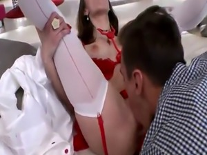 Slutty chick Mary Wet double penetrated by two huge cocks