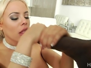 Luna Star always tries kinky things and this time, she got ready to take BBC...
