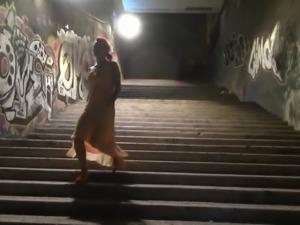 Krakenhot - Brunette girl provocating in the street