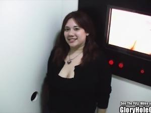 Glory Hole Chubby Slut Big Tits Suck Dick