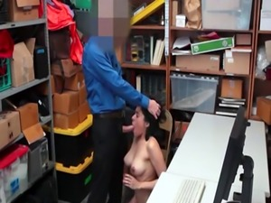 Teen thief caught stealing and pounded by pervert LP officer