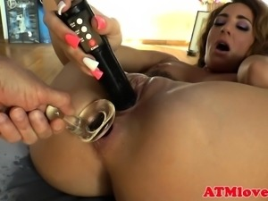 Ass toying babes squirting passionately