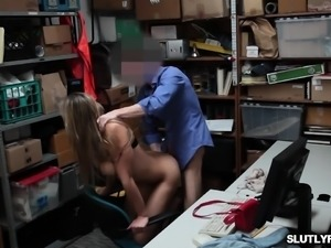 LP Officer fucks Blair Willliams pussy doggy
