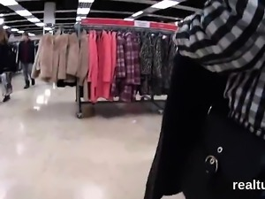 Enchanting czech cutie gets seduced in the mall and fucked i