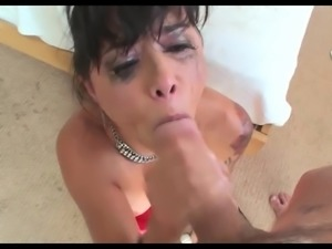 Asian Milf DV Sloppy Deepthroat Blowjob