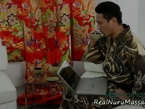 Cute asian nuru massage